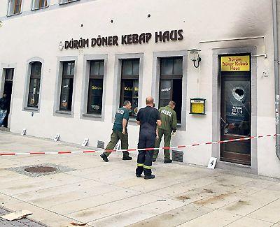 Brandschäden am Dürüm Döner Kebap Haus in der Burgstraße